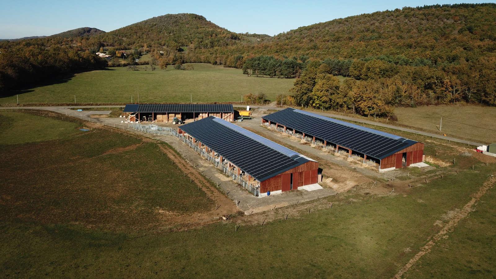 350kWc sur bâtiments agricoles